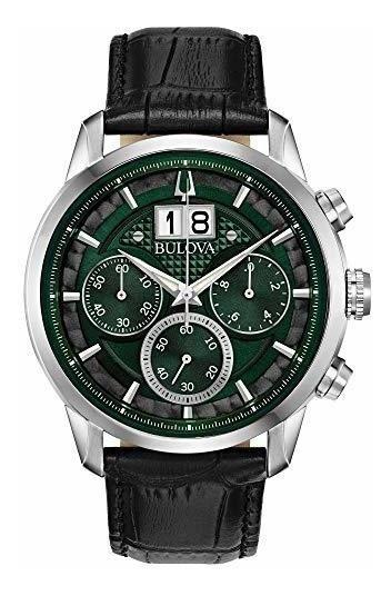 Bulova Sutton 96b310 Reloj De Pulsera Para Hombre Con Cronog