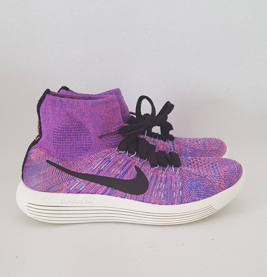 Tenis De Corrida Nike Lunar Epic Flyknit Violeta Original
