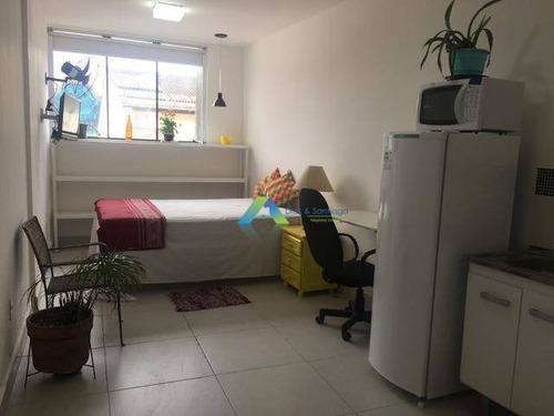 Studio Com 1 Dormitório Para Alugar, 35 M² Por R$ 1.200,00/mês - Mirandópolis - São Paulo/sp - St0006