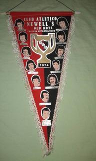 Banderin Newells Campeon 1974 De Coleccion!