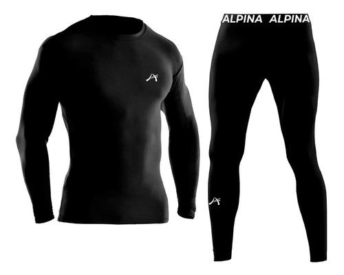 Imagen 1 de 4 de Conjunto Termico Alpina Remera + Calza Pantalon - Sti