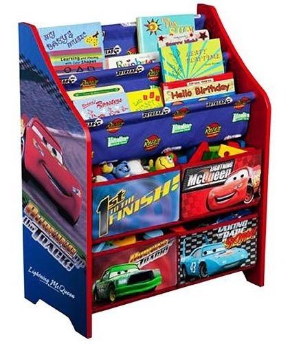 Librero Y Juguetero Organizador De Disney Cars