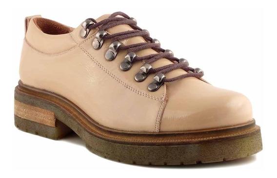 Zapato Mujer Briganti Cuero Charol Botineta Bota - Mccz33028