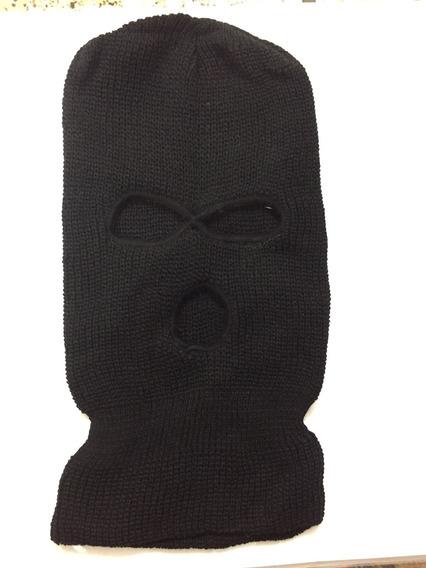 Touca Gorro Preto De Lã Ninja
