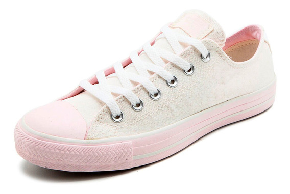 Tênis Converse All Star Gliter Ct As Core Ox Rosa - Original