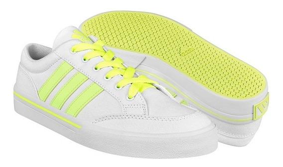 Tenis Casuales Para Dama adidas Af5951 Blanco Verde