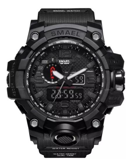 Relógios Esportivo Militar Smael Original - Preto