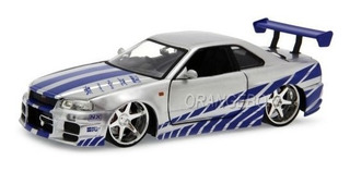 Brian S Nissan Gtr Skyline R34 Velozes E Furiosos Jada Toys