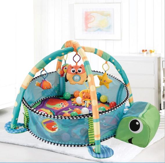 Tapete Infantil Para Bebê Com Piscina De Bolinha Tartaruga