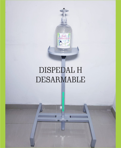 Dispensador Gel Antibacterial Con Pedal Auto Retráctil