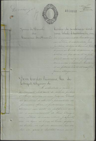 Portugal 1904 Parte De Um Processo Cartorial Inteiro Fiscal