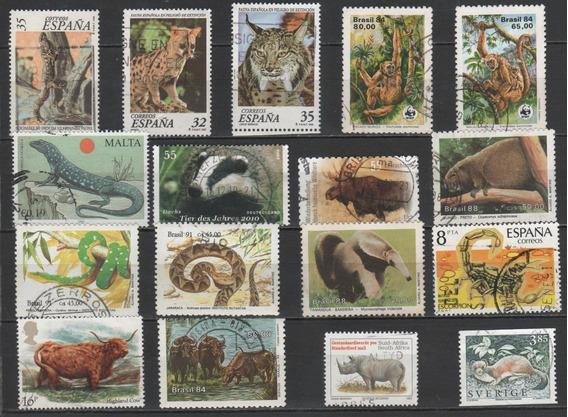 Animais - Coleção De Selos Diferentes - 7722