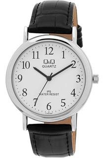 Reloj Q&q By Citizen C150j304y Hombre Malla Cuero Agente Of