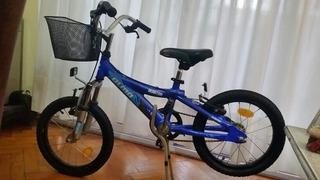 Bicicleta Olmo Reaktor Rodado 16 Azul C/ Canasto Metálico.