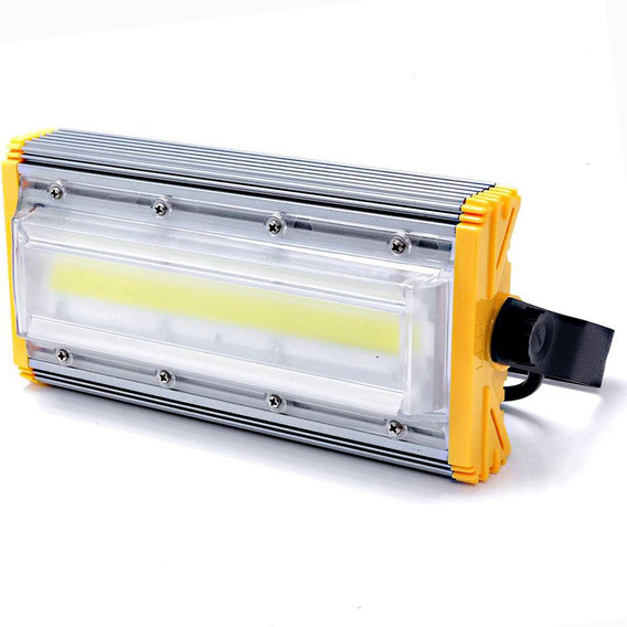 Kit 16 Refletor Led Projetor Luz Linear 50w 5500 Lumen Bvolt
