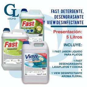 Paquete Especial Desengrasante, Jabon Y Desinfectante (5lcu)