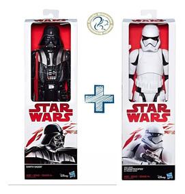 Boneco Star Wars 30 Cm Darth Vader + Stormtrooper
