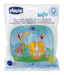 Cortinas Parasol Chicco X 2 U Con Estuche Infantil Dibujos