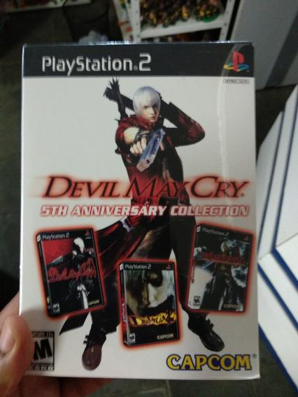 Ps2 - Box Devil May Cry 5th Anniversary Collection Lacrado