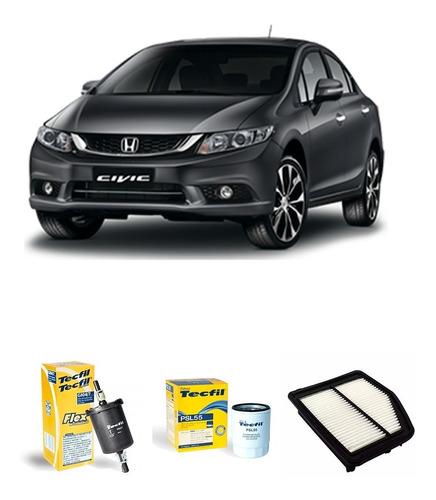 Imagem 1 de 1 de Filtros Ar / Óleo E Combustível Tecfil Honda Civic 1.8 2016
