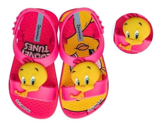 Chinelo Grendene Infantil Feminino Ipanema Looney Tunes 2637