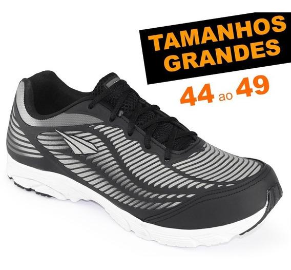 Tênis Ms Runner Grafite Tamanhos Grandes 44 45 46 47 48 49