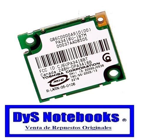 Placa Bluetooth Toshiba Para Varios Modelo Ver Descripcion