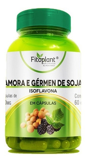 Amora C/ Gérmen Soja 60 Cáp. 500mg Caixa C/ 12 Potes Original Premiun Fitoplant