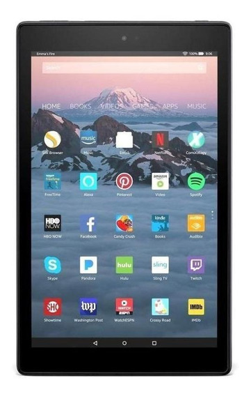 "Tablet Amazon Fire HD 10 2017 KFSUWI 10.1"" 32GB black com memória RAM 2GB"