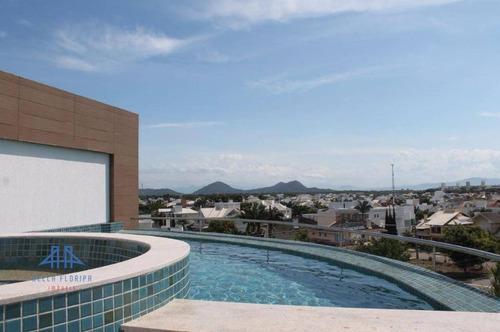 Imagem 1 de 30 de Cobertura Com 2 Dormitórios À Venda, 253 M² Por R$ 3.692.000,00 - Jurerê Internacional - Florianópolis/sc - Co0081