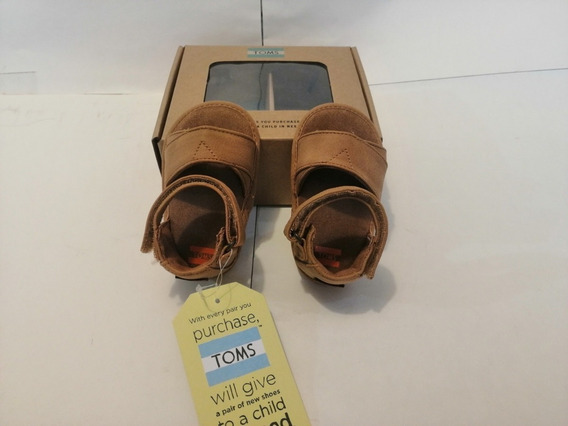 Toms Huaraches Shiloh Toffee Synthetic Suede Para Bebe