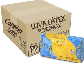 Luva Procedimento Saúde Látex C/1.000 Supermax