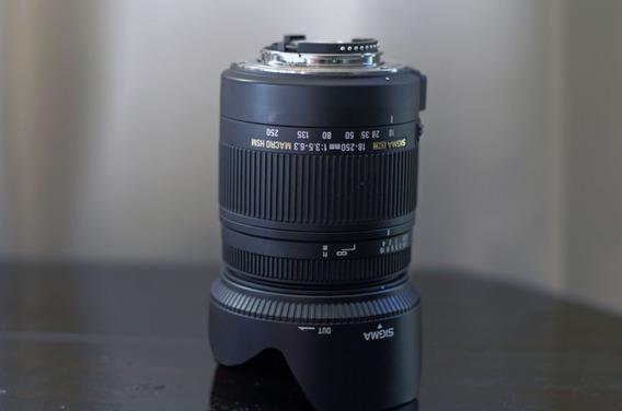 Lente Sigma 18-250mm F3.5-6.3 Macro Hsm P/ Nikon