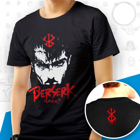 Camisa Camiseta Berserk Guts Marca Demônio Simbolo Blusa
