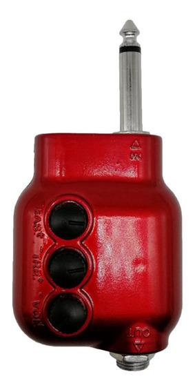 Pickup De Guitarra Com Botão Bateria Amplificador De Potênci