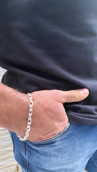 Pulseira Cartier Masculina 22,5cm Prata 925 Maciça