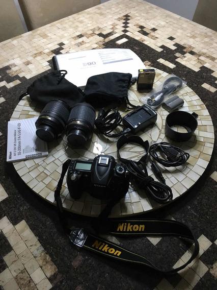 Câmera Nikon D90 + Acessórios (seminova)