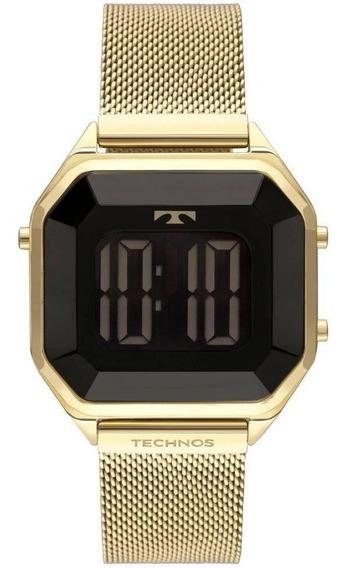 Relógio Feminino Technos Crystal Digital Bj3851aj/4p