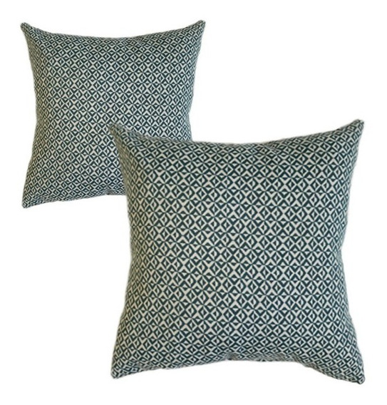 2 Cojines Decorativos Cuadro Geometrico Verd Salas Recamaras