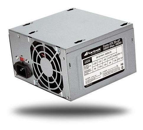 Fonte Atx Pcu Pc Computador 200w Real Bivolt 450w Out
