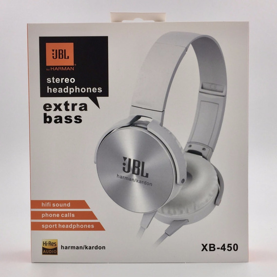 Fone Headset Com Microfone Jbl Xb-450 Super Bass