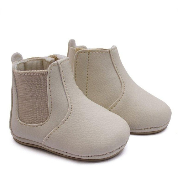 Botina Bebê Pequena Infantil Recem Nascido Sapato Peãozinho