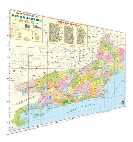 Mapa Estado Do Rio De Janeiro Geo Político Rodoviário Atual
