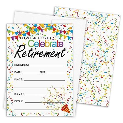 Tarjetas De Invitación A La Fiesta De Jubilación Con Sobre