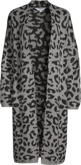 Abrigo Dama Talla Xl 16-18 Time&tru Abierto Grey Leopard