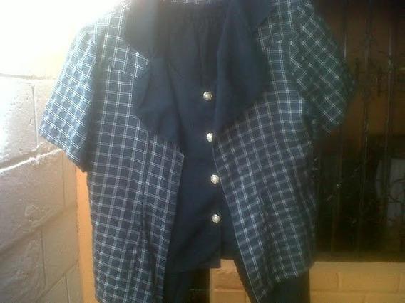 Blusa Tipo Chaqueta, Chaleco Pantalón Para Dama Talla 16