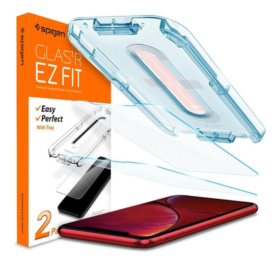 Vidrio Templado Spigen iPhone 11 / Xr Ez Fit Glas.tr Slim X2