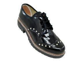 85542352 Zapatos Rally Charol Negro Con Detalle T 35 - Zapatos en Mercado ...