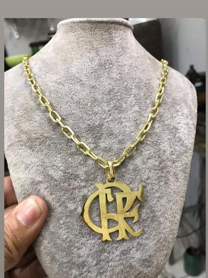 Cordão De Prata Flamengo Banhado A Ouro 24k