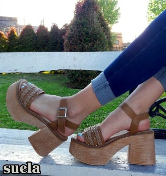 Sandalias Mujer Zapatos Plataforma Liviana Comoda A.200
